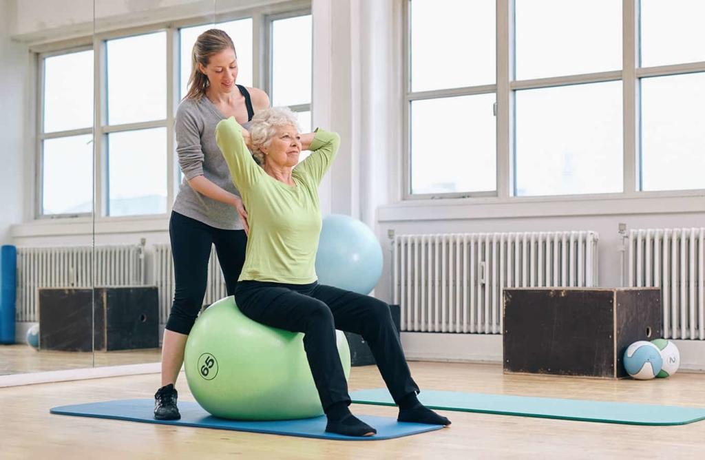 Behandeling van evenwichtsstoornissen door oefeningen