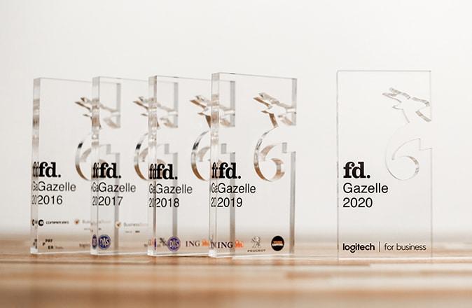 Otolift Traplift winnaar van FD Gazellen in 2016, 2017, 2018, 2019 en 2020