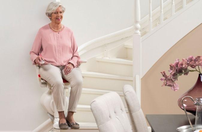 Een gebruikte traplift van Otolift is net zo veilig als een nieuwe traplift.