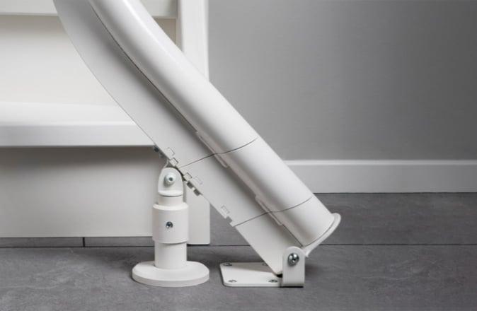 Doordat de traplift uit standaard modules bestaat, is de Modul-air uitermate geschikt voor huren.