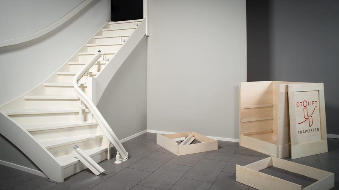 De Otolift Modul-Air bestaat uit verschillende modulaire raildelen die volledig passend zijn voor uw trap.
