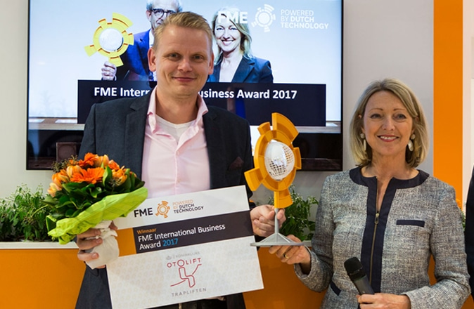 Otolift wint de FME International Business Award in 2017.